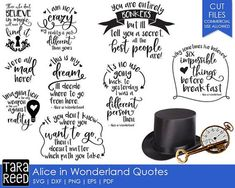 Get Alice In Wonderland Quotes and Sayings With Images. Share These Top Alice In Wonderland Quotes Pictures With Your Friends On Social Networking Alice In Wonderland Shirts, Alice In Wonderland Silhouette, Alice In Wonderland Clipart, Wonderland Party, Freebies, Silhouette Cameo Projects, Printed Materials, Vinyl Projects, Birthday Quotes