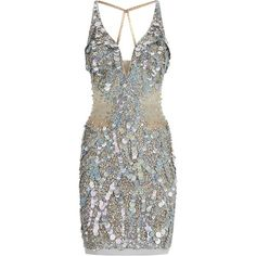 Jovani Illusion Sequin V-Neck Dress ($1,085) ❤ liked on Polyvore featuring dresses, vestidos, short dresses, robes, jovani dresses, brown cocktail dress, sequin dress, plunging v neck dress and v neck mini dress