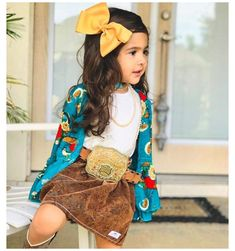 Little Girl Outfits, Toddler Girl Outfits, Toddler Fashion, Kids Outfits, Kids Fashion, Baby Outfits, Korean Fashion, Toddler Cowgirl Outfit, Cowgirl Baby