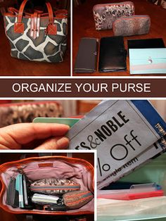 How to organize your purse, or tote bag...