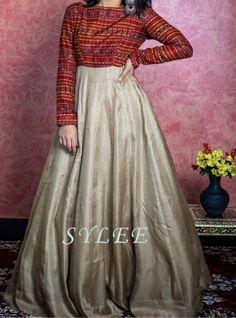 Beautiful Dress Designs, Stylish Dress Designs, Designs For Dresses, Indian Gowns Dresses, Indian Fashion Dresses, Indian Designer Outfits, Cotton Long Dress, Long Gown Dress, Long Frock