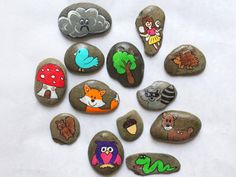 Story Stones - Woodland Creature | Forest Animals | Magical Fairytale | Childrens Stories | Kids Gift | Story Time | Make Believe