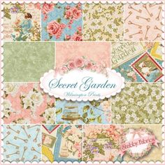 Secret Garden 14 FQ Set By Graphic 45 For Wilmington Prints: Secret Garden is a collection by Graphic 45 for Wilmington Prints. 100% cotton. This set contains 14 fat quarters, each measuring approximately 18