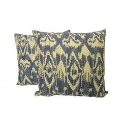Handmade Ikat Kantha Pillow Cover