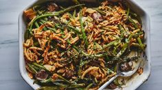 You can make your own fried shallots or onions, but French's are astonishingly delicious and practically define this green bean casserole recipe (and you can find them at pretty much any grocery store).