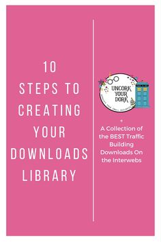 If you have a small library of free downloads, & have been meaning to do a bit of consolidation and spring cleaning, read the newest post from Uncork Your Dork! Click the image for step by step instructions on how to create your password protected media library!