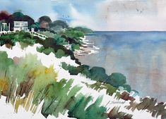 One Jeff Suntala's numerous watercolors of the Lake Erie shoreline.