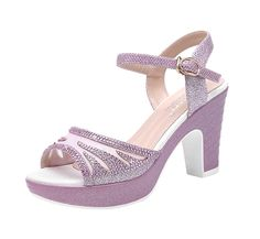 T and Mates Women's Fashion Rhinestones Peep-Toe Mesh Platform Ankle-Strap Sandals * Startling review available here  : Hiking sandals