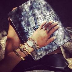Metallic Valentina bag by Botkier