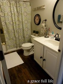 A Grace Full Life: Master Bathroom Makeover- There Is NUTHIN Master About This Bath