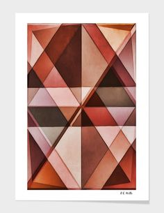 Discover «Faux Leather Triangles», Exclusive Edition Fine Art Print by Randy Witte - From $25 - Curioos