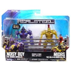 Real Steel Movie BASIC Action Figure 2Pack Noisy Boy Vs. Midas by Jakks Pacific. $29.99. Brand new. Includes a total of 2 action figures:. 1 each - 2 pack of Noisy Boy vs Midas Gold-Blooded Killer. Great for play or display. Bring home the rock em sock em movie action of Real Steel with these highly articulated Robots! Now Real Steel fans can relive battles from the hit movie at home with a Deluxe Robot. Using QuickSwitch Technology, Real Steel Robot limbs and accessorie...