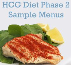 The HCG diet made easy with our FREE meal planning... check out our sample menus for phase 2 of the HCG diet!