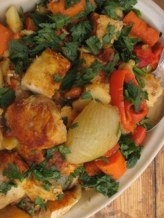 Moroccan Shabbat Fish  Recipe -  Delicious.  Good dish when entertaining, as it all cooks in one pot.