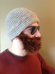 Handmade Crochet Beard hat 306cfe4505f6
