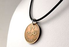 Bahrain Coin necklace Coin jewelry Gifts for him by CoinStories