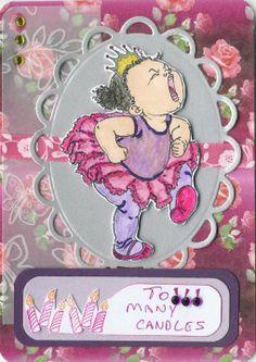 Birthday Card with Mo Manning Digi Stamp