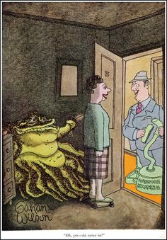 """""""Oh yes--do come in!"""" (Gahan Wilson)"""