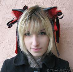 Hand made cosplay fox ears with embellishments, by Yaya Han http://yayahan.com/shop/product/fox-wolf-ears-embellished