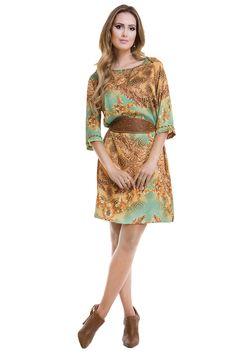 Vestido Detalhe Chapado Via Tolentino