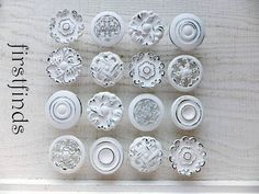 16 Large Knobs Kitchen Cabinet Pulls Shabby Chic by Firstfinds