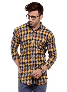 25 Shirts Slim For You This Summer - Global Outfit Experts Formal Shirts For Men, Online Shopping Websites, Workout Shirts, Latest Fashion Trends, Men Casual, Menswear, Mens Fashion, Yellow, India
