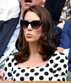 The Duchess was not in her usual Ray Bans sunglasses.
