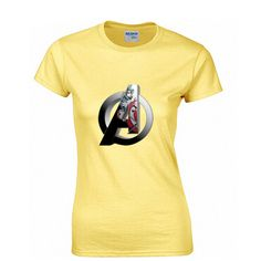 Captain America Fashion Print 100% Cotton Women's T-shirt
