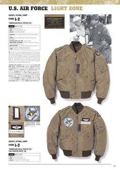 BUZZ RICKSON'S L2 Bomber Jackets, Leather Jackets, Navy Jacket, Field Jacket, Fashion Wear, Workwear, Flyers, Air Force, Military Jacket