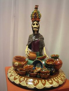 bellisima muestra artesanal para Dia de Muertos
