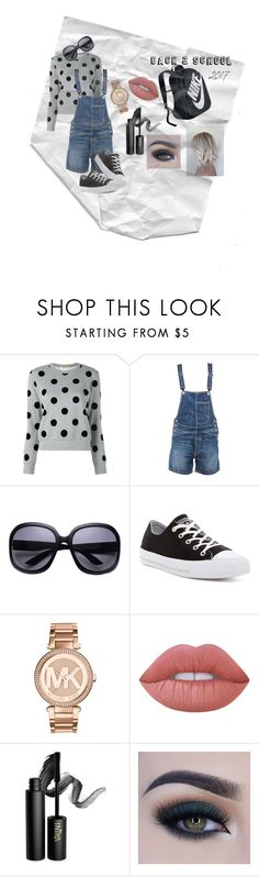 """""""back 2 school days :("""" by jennabear32 on Polyvore featuring Dondup, Converse, Michael Kors, Lime Crime, INIKA, Too Faced Cosmetics and NIKE"""