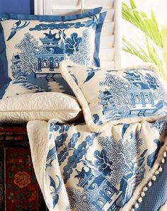 Blue willow toile...