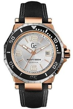 NEW GUESS Collection GC Watch 2 Tone Rose Gold & SS Date Black Strap X79003G1S #GuessCollection #LuxurySportStyles