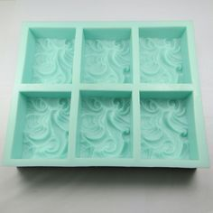 Silicone Wave Soap Mold, 6 Cavity - on sale, 24 hours only
