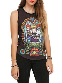Disney Womens Snow White Evil Queen Stained Glass Muscle Tank Small -- Check out this great product.Note:It is affiliate link to Amazon. #california