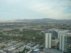 Vue de Las Vegas en haut de la Stratosphère