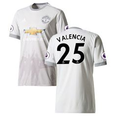 Antonio Valencia Manchester United adidas Youth 2017/18 Third Replica Jersey - Gray - $99.99