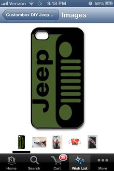 Green jeep iphonecase