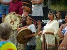 Welcoming Arriving Canoes from Salish Sea Canoe Journey at Swinomish Tribe