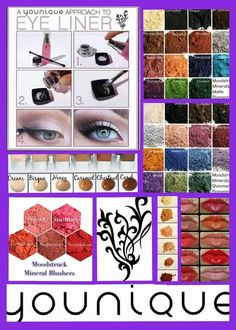 Gorgeous, versatile eye colors and the lip gloss is so soft and creamy!! Try 3D fiber Lash Mascara. Youniques Fabulous Cosmetics are Gluten, Paraben , Carcinogen and Cruelty Free.  Order yours online and ships directly to you www.iwantfabulouslashes.com