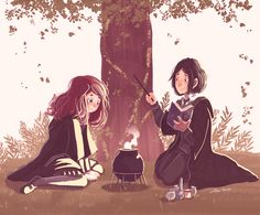 """alessiajontrunfio: """"""""Severus: """"Thought we were supposed to be friends? Best friends?"""" Lily: """"We are, Sev."""" """""""