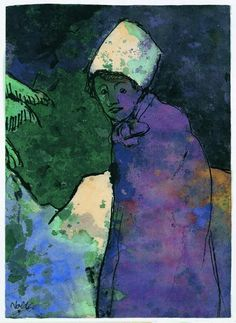 Emil Nolde - Woman in Winter Emil Nolde, Ernst Ludwig Kirchner, Ludwig Meidner, Paula Modersohn Becker, Degenerate Art, Inspiration Artistique, Expressionist Artists, Art Moderne, Colors