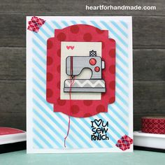 Paper Smooches: The PS Patrol - May - Ria Montefalcon Card Tags, I Card, Japanese Store, Sewing Cards, Paper Smooches, Sewing A Button, Cool Cards, Loving U, More Fun