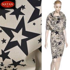 Bawełna cotton elastan STAR gwiazdki