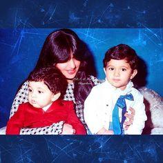 Fátima bint Rashid bin Saeed Al Maktoum con sus sobrinos: Hamdan bin Mohammed y Rashid bin Mohammed bin Rashid Al Maktoum. Vía: alk7aileh_almaktoum