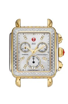 MICHELE 'Deco Diamond' Diamond Dial Two Tone Watch Case available at #Nordstrom