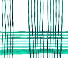 cestlaviv_kitchen plaid green onions fabric by cest_la_viv on Spoonflower - custom fabric