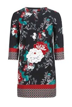 Oriental Print Tunic at Long Tall Sally, your number one fashion retailer for tall women's clothing #tallgirl #tallwomen #tallfashion