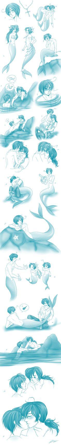 APH+-+Sketchdump+-+The+Little+Merman+3+by+x-Lilou-chan-x.deviantart.com+on+@deviantART