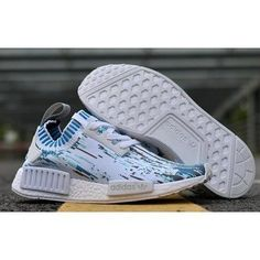 2a584c43d Adidas NMD XR1 Primeknit White Blue Black Friday Shoes